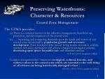 preserving waterfronts character resources coastal zone management