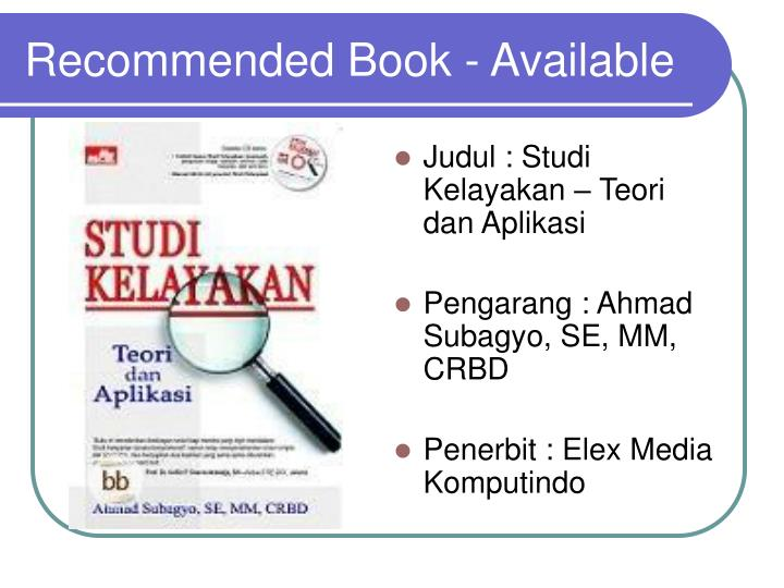 recommended book available n.