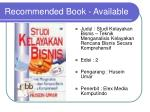 recommended book available1