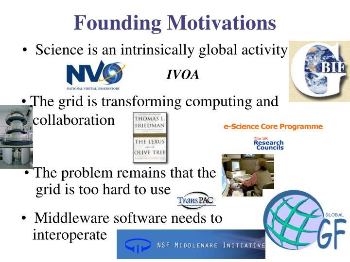 Founding motivations