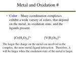 metal and oxidation