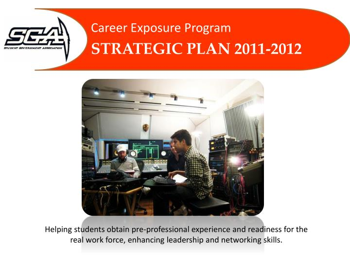 career exposure program strategic plan 2011 2012