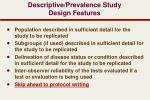 descriptive prevalence study design features