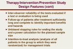 therapy intervention prevention study design features cont1