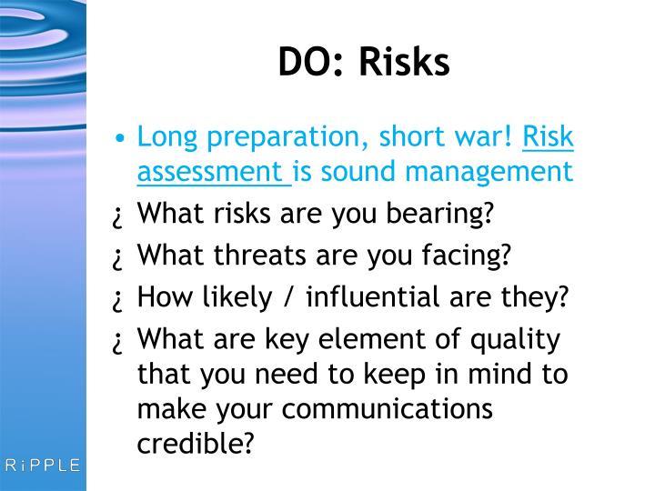 DO: Risks