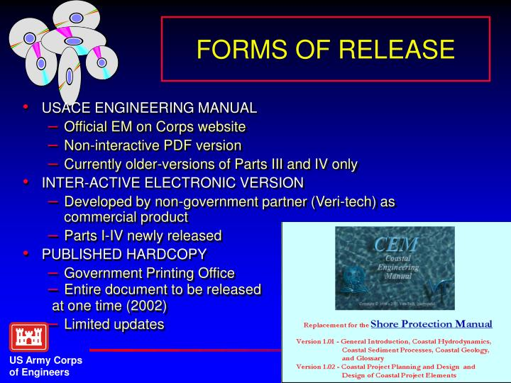FORMS OF RELEASE