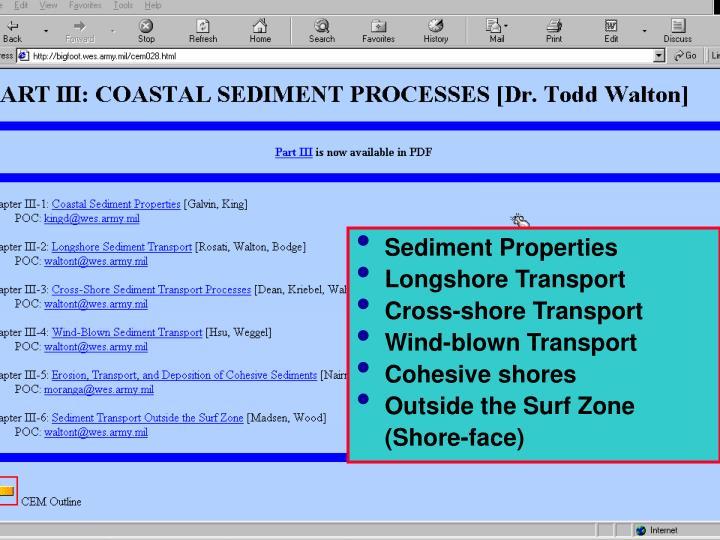 Sediment Properties