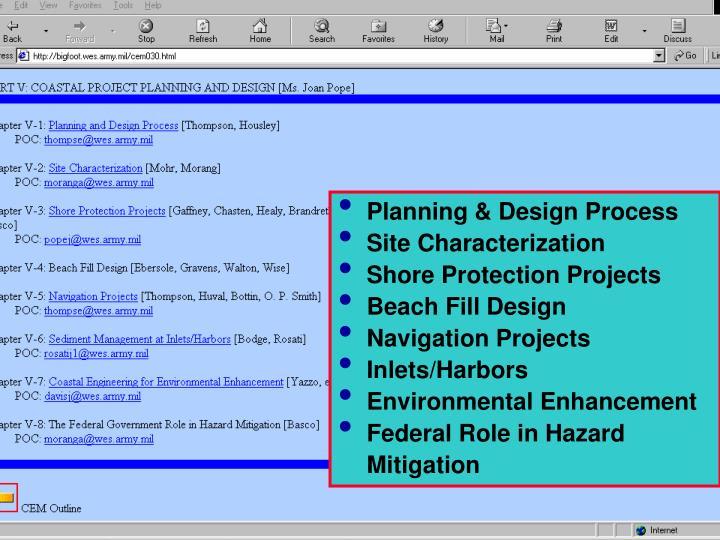 Planning & Design Process