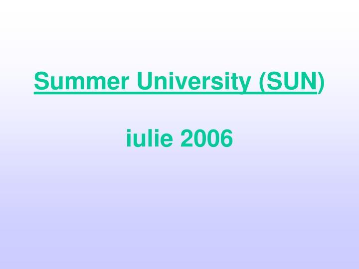 Summer University (SUN