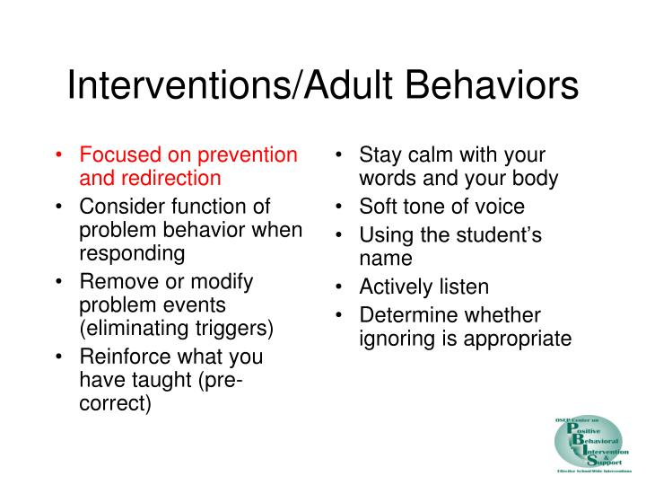 Focused on prevention and redirection