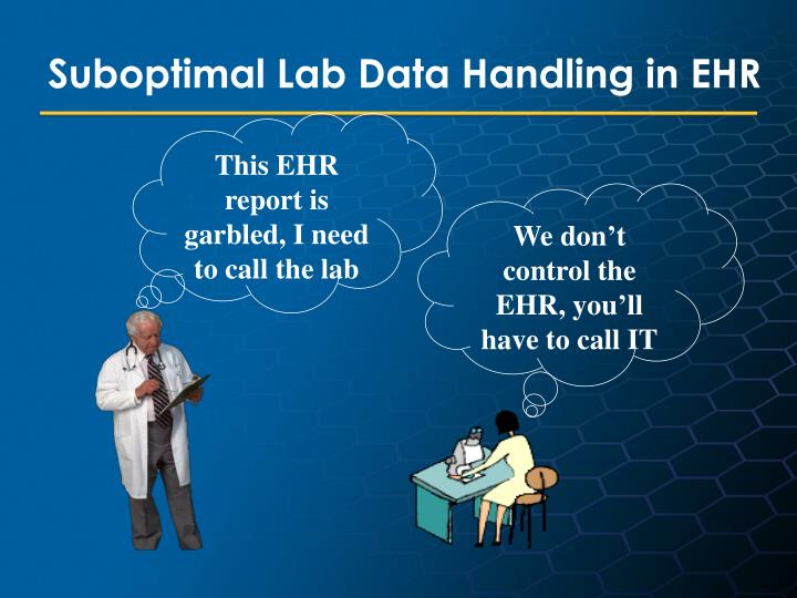 This EHR report is garbled, I need to call the lab