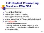 lse student counselling service ksw 507