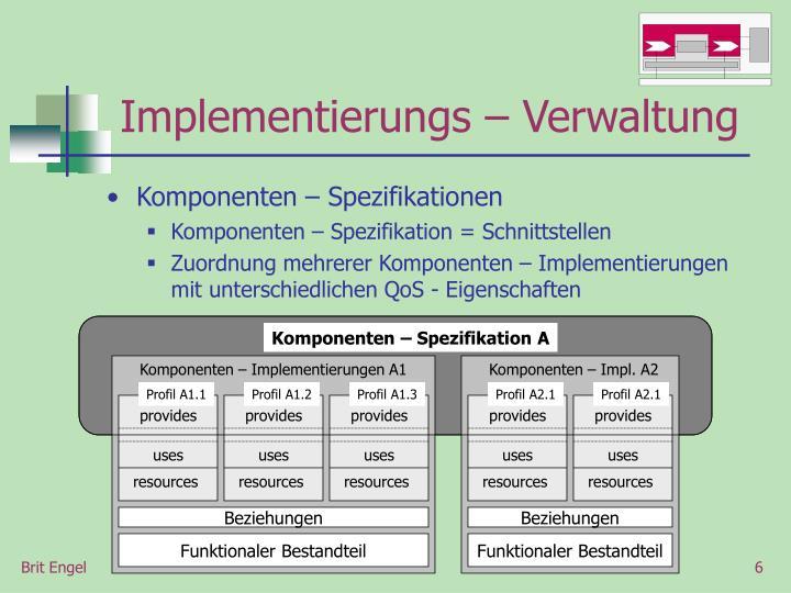 Komponenten – Implementierungen A1
