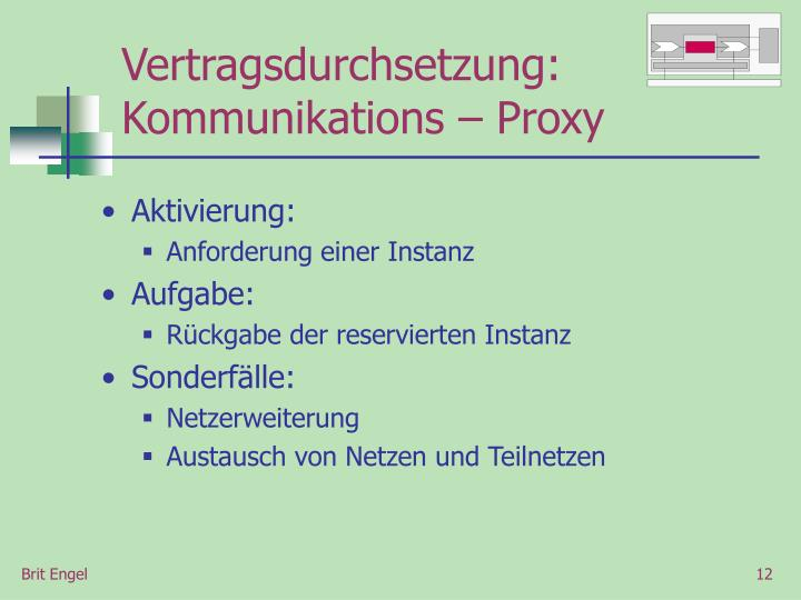 Vertragsdurchsetzung: Kommunikations – Proxy