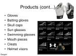 products cont