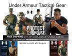 under armour tactical gear