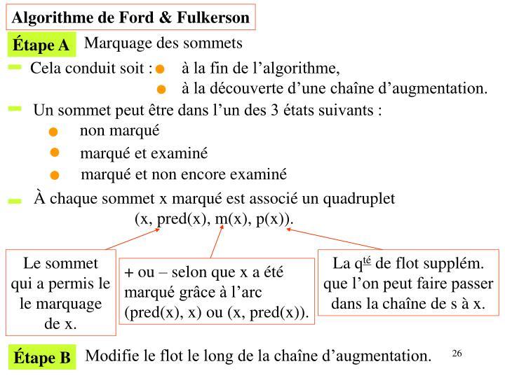 Algorithme de Ford & Fulkerson
