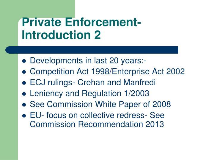 Private Enforcement-Introduction 2