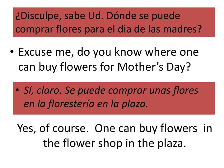 yes of course one can buy flowers in the flower shop in the plaza n.
