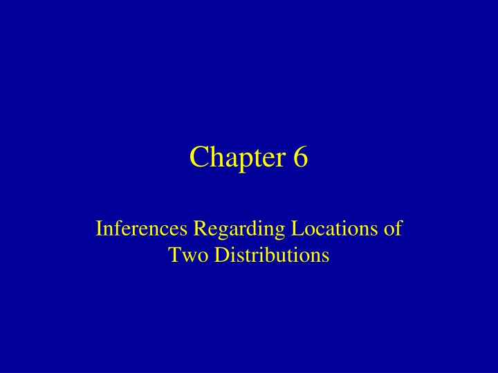 inferences concerning two means 1 111 inferences concerning the difference between 2 population or treatment means using independent samples in chapter 10, we were comparing the mean of a population to some hypothesized value.