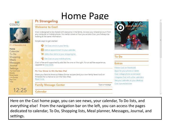 Ppt Cozi Home Organizer Powerpoint Presentation Id 3731965