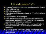 l tat de nature 2