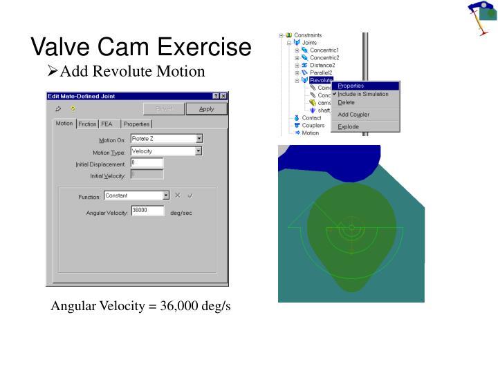 Valve cam exercise2