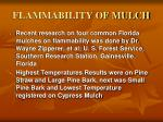 flammability of mulch