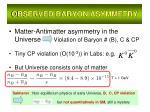 observed baryon asymmetry