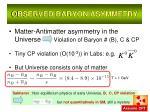 observed baryon asymmetry1