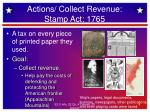 actions collect revenue stamp act 1765