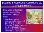 actions reactions committee of correspondence