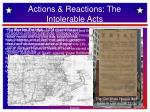 actions reactions the intolerable acts