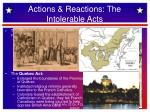 actions reactions the intolerable acts1