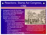 reactions stamp act congress 1765