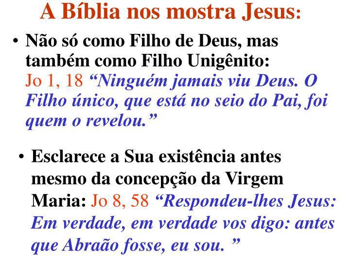 A Bíblia nos mostra Jesus