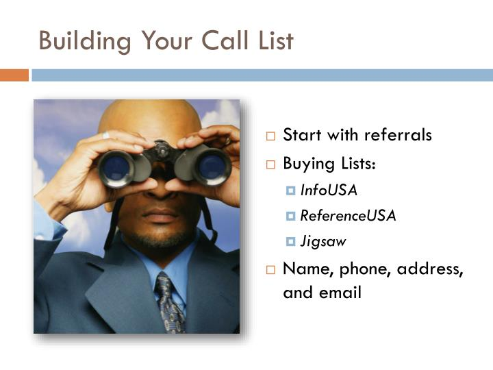 Building Your Call List
