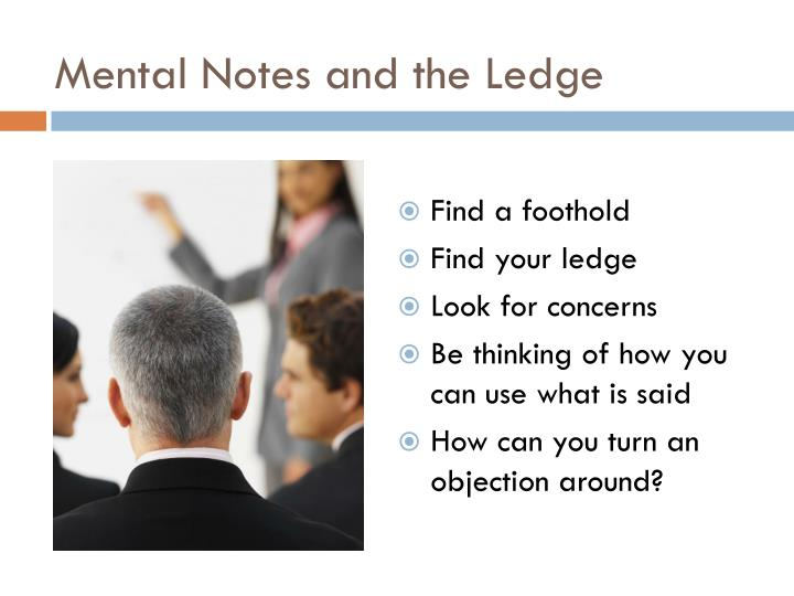Mental Notes and the Ledge
