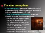 the nine exemptions2