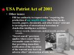 usa patriot act of 20011
