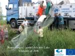restocking of farmed eels into lake v rtsj rv in 2006