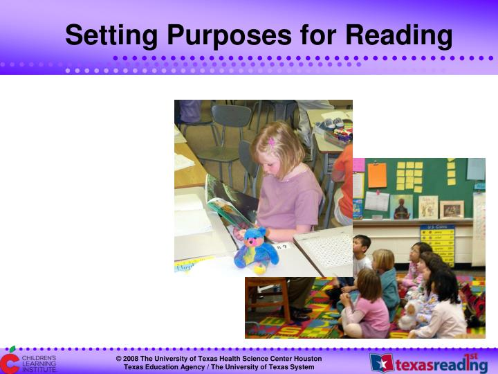 Setting Purposes for Reading