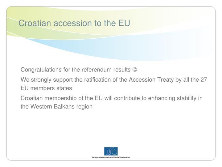 Croatian accession to the eu