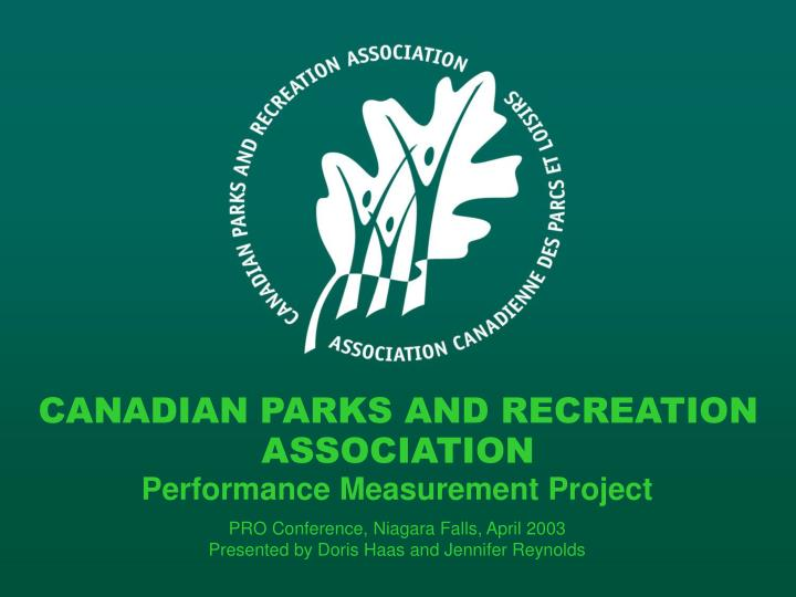 CANADIAN PARKS AND RECREATION
