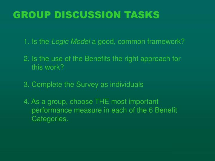 GROUP DISCUSSION TASKS