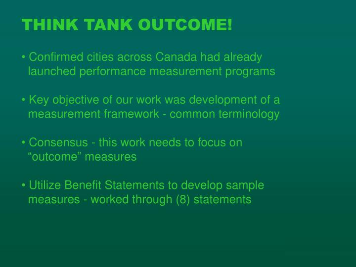 THINK TANK OUTCOME!
