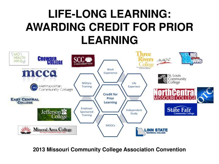 Life long learning awarding credit for prior learning