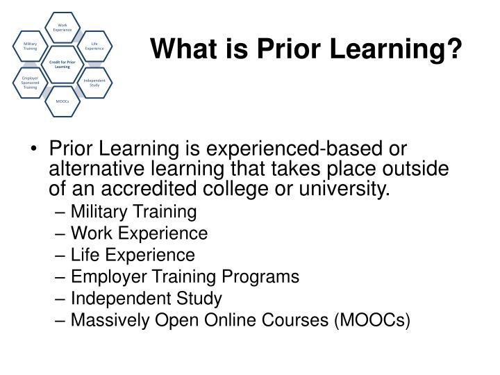 What is prior learning