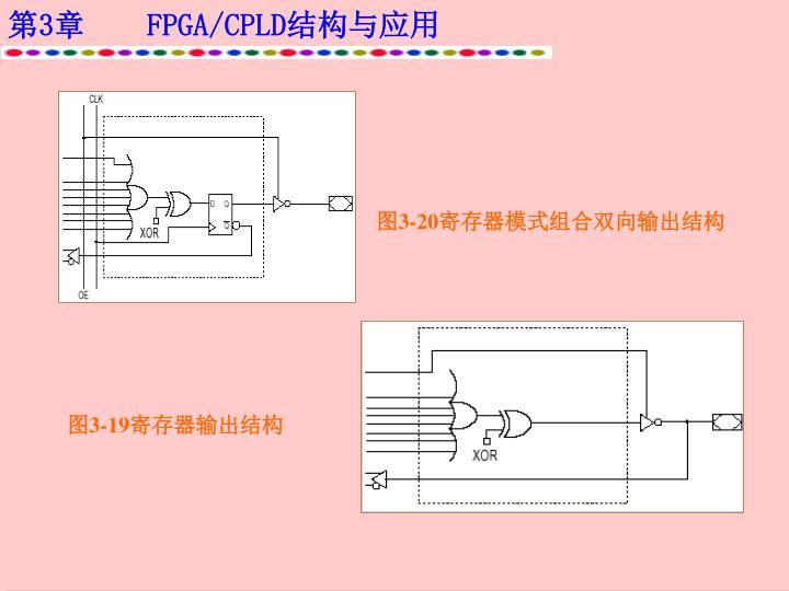 图3-20寄存器模式组合双向输出结构