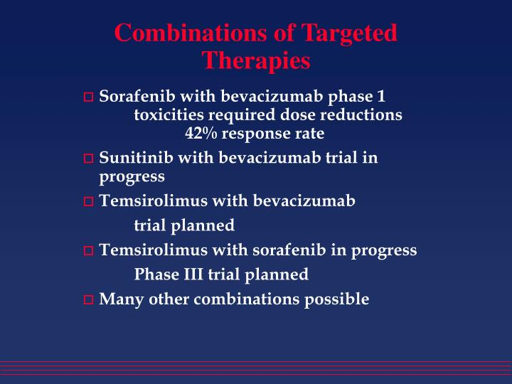 Combinations of Targeted Therapies